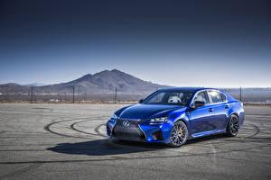 Фото Лексус Небо Металлик Роскошные Синий 2016 Lexus GS F Автомобили