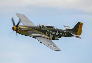 Фотография Истребители Самолеты P-51D Mustang