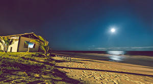 Фотография Бразилия Дома Море Пляж Природа