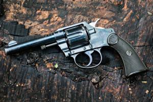Обои Крупным планом Пистолеты Револьвер Colt Армия фото