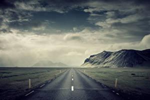 Картинки Дороги Горы Небо Природа