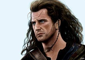 Обои Mel Gibson Мужчины Рисованные William Wallace Фильмы Знаменитости
