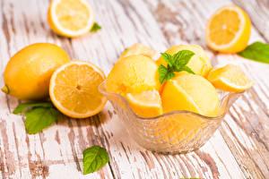 Фото Цитрусовые Лимоны Продукты питания
