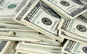 Картинки Доллары Банкноты Деньги Вблизи