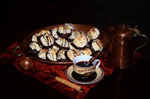 Фотография Выпечка Печенье Кофе Чашка