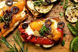 Картинки Бутерброды Мясные продукты Овощи Приправы