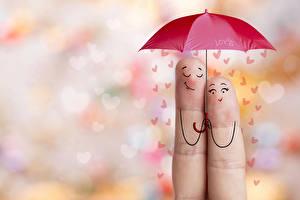 Фотографии Праздники День всех влюблённых Зонт Сердечко