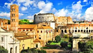 Фотография Италия Дома Руины Рим Ancient Rome
