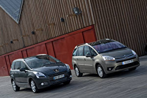 Фотографии Peugeot Два Металлик 2009 Peugeot 5008 машина