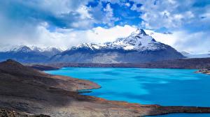 Фотография Гора Озеро Пейзаж Небо Облачно Природа