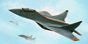 Фото Самолеты Рисованные Истребители MiG Авиация
