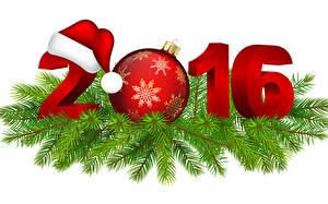 Фотографии Векторная графика Праздники Новый год 2016 Шар Шапки