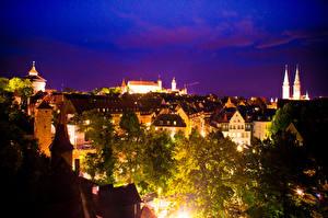 Фото Германия Дома Нюрнберг В ночи