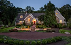 Обои Дома Ландшафт Особняк Дизайн Кусты Города фото