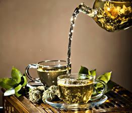 Картинки Напиток Чай Чашке Два Листья Пища