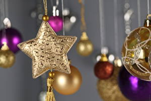 Фотографии Праздники Рождество Шарики
