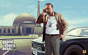 Фотография GTA 5 Мужчины Векторная графика FBI Игры