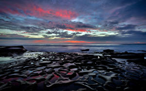 Фотографии Небо Побережье Океан США Сан-Диего Природа