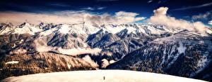 Обои Гора Пейзаж Леса Облака Природа