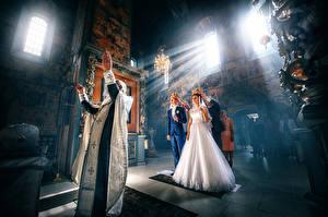 Фото Свадьба Жених Невеста Лучи света