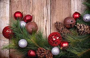 Обои Праздники Рождество Шарики Шишки Шаблон поздравительной открытки