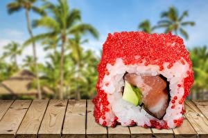 Картинки Морепродукты Суши Икра Продукты питания
