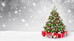 Фото Рождество Елка Шарики Подарки