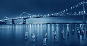 Фотография Мосты Штаты Ночь Сан-Франциско