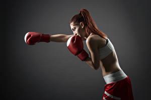 Обои Бокс Рыжие Ударяет Спорт Девушки