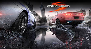 Фотография Колесо Брызги Вид world of speed Игры Автомобили