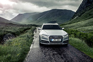 Обои Audi Гора Спереди Универсал A6 Avant Автомобили