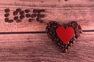 Картинки Кофе Любовь Зерна Сердце
