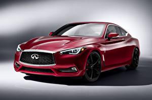 Обои Инфинити Бордовый Металлик Люксовые 2016 Infiniti Q60 Автомобили