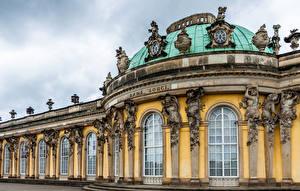 Картинки Германия Потсдам Окно Города