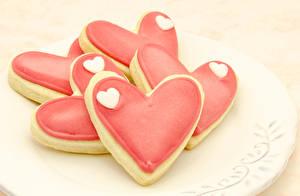 Фотография Выпечка Печенье День святого Валентина Сердечко
