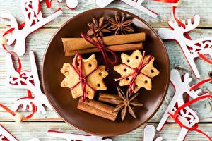 Картинки Печенье Корица Новый год Бадьян звезда аниса Еда