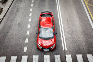 Фотографии Дороги Красный Сверху 2015 Civic Type R Авто