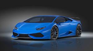 Фотография Lamborghini Голубые Роскошные Novitec Torado, Huracan машины