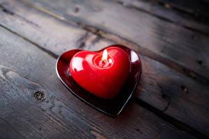 Картинка День святого Валентина Свечи Серце Доски