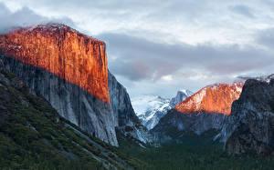 Обои Горы США Парки Йосемити Природа фото