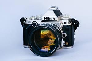 Обои Крупным планом Объектив Фотоаппарат nikon Df, AF 85mm f1.4D фото