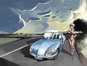 Обои Рисованные Тучи Авто