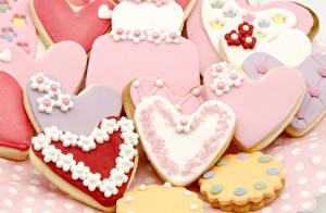 Фото Выпечка Печенье Дизайн Сердце Еда