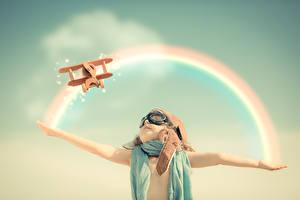 Картинка Самолеты Игрушки Радуга Дети