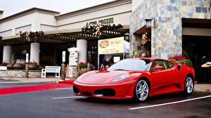 Обои Ferrari Красный F430 Авто