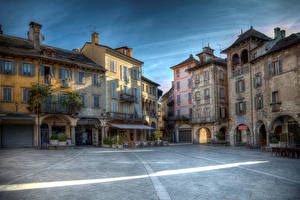 Фото Италия Дома Улица Domodossola Piedmont Города