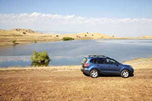 Обои Subaru Побережье Голубой Сбоку 2016 Forester Автомобили фото