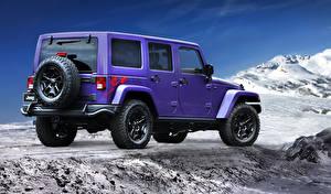 Картинка Jeep Фиолетовый Металлик Вид сзади 2016 Wrangler Backcountry Автомобили