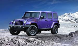 Картинка Джип Фиолетовых Металлик 2016 Wrangler Backcountry Автомобили