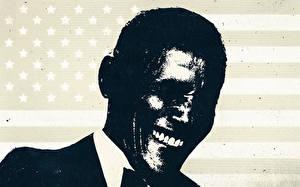 Фотографии Барак Хуссейн Обама Мужчины Негр Улыбка Смех Президент Знаменитости